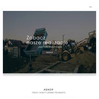 Prace i roboty ziemne Gdańsk - Adkop wynajem koparki, budowa drenaży, grunty pod budynki, skarpowanie terenu, remonty drogowe, budowa dróg z płyt Jumbo, ./_thumb/adkopczaple.pl.png