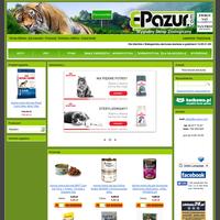 Masz w domu zwierzaka i poszukujesz wypróbowanego, niedrogiego i komfortowego sklepu zoologicznego?Masz dość biegania po sklepach i dźwigania ciężkiej karmy? Słyszałeś już o sklepie zoologiczny E-Pazur? Jeśli nie, to koniecznie wypróbuj naszą ofertę! Sprzedajemy wszystko czego potrzebują domowe zwierzaki: karmy (specjalizujemy się szczególnie w karmach dla psów i kotów - mokrych i suchych), środki do pielęgnacji i ochrony zwierząt, akcesoria zoologiczne, akwarystyczne i terrarystyczne, fachową literaturę, zabawki itd. Towary podzielone są na sklepie według gatunków zwierząt, a więc są kategorie: koty, psy, małe zwierzęta, ptaki, akwarystyka, terrarystyka. Ułatwia to szybkie zakupy.  ./_thumb/e-pazur.com.png