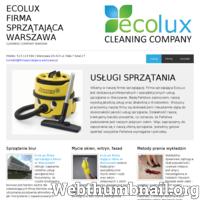 Profesjonalne i ekspresowe sprzątanie domów, mieszkań, powierzchni biurowych i innych, również specyficznych miejsc tj. groby, pomniki czy klatki schodowe, również mieszkania po remoncie. Zaufana i sprawdzona ekipa sprzątająca EcoLux, od 10 lat świadczy usługi sprzątania w mieście Warszawa na bardzo wysokim poziomie. Do każdego zlecenia podchodzimy z wielkim zaangażowaniem i wykonujemy swoją pracę bardzo solidnie. Oprócz ogólnych działań sprzątających zajmujemy się : praniem narożników i innych mebli tapicerowanych, pranie dywanów i wykładzin, mycie okien. Zapraszamy wszystkie osoby zainteresowane naszą ofertą!  ./_thumb/firmasprzatajaca.warszawa.pl.png