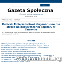 Gazeta Społeczna to nowoczesny portal informacyjny. Piszemy o wydarzeniach gospodarczych, sportowych, sprawach społecznych, biznesie i kulturze. News jest dla nas równie ważny jak kontekst ./_thumb/gazetaspoleczna.pl.png