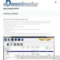 Maildownloader.pl to portal poświęcony programu p2m (peer2mail). Program umożliwia pobieranie (download) oraz wysyłanie (upload) plików na skrzynki mailowe (e-mail). Wsparciem dla tych funkcji są dodatkowej moduły np. sprawdzacz kont, sprawdzacz uploadu. Główną zaletą programu ma być jego żywotność. Oparcie go o powszechnie używane protokoły POP3 oraz IMAP to droga do zapewnienia jego długowieczności. Strona zawiera poradniki, tutoriale odnośnie programu. Pomóż nam współtworzyć ten program. Nawet ty bez umiejętności programowania możesz na pomóc. Zapraszamy na nasz portal. ./_thumb/maildownloader.pl.png