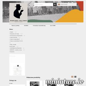 Mariano Italiano to sklep internetowy oferujący profesjonalne ekspresy do kawy, kawę ziarnistą i akcesoria niezbędne do parzenia kawy. Serdecznie zapraszamy. ./_thumb/marianoitaliano24.pl.png
