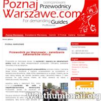 Jesteśmy grupą najlepszych przewodników po Warszawie, działamy pod nazwą Poznaj Warszawę. Wycieczki po Warszawie to nie tylko nasz zawód, ale również pasja. Nieważne kim jesteś, na pewno znajdziesz coś dla siebie, coś co Cię zainteresuje w Warszawie. Z naszymi licencjonowanymi przewodnikami przekonasz się jak niezwykłym miejscem jest Warszawa i jak wiele ma do zaoferowania. W ofercie posiadamy szereg spacerów tematycznych np. Warszawa czasów Króla Stanisława, szlak powstania w Gettcie Warszawskim czy Bajki i Legendy Warszawskie. Jeśli planujesz dłuższy pobyt w stolicy oferujemy przygotowanie najbardziej optymalnego i najbardziej interesującego Cię planu zwiedzania. Zapraszamy do wspólnego zwiedzania – przewodnicy z grupy Poznaj Warszawę. ./_thumb/poznajwarszawe.com.png