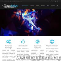 Tworzenie stron internetowych Włocławek. Tworzenie stron i blogów WordPress, pozycjonowanie stron internetowych, SEO, tworzenie sklepów internetowych. ./_thumb/stevedesign.com.pl.png