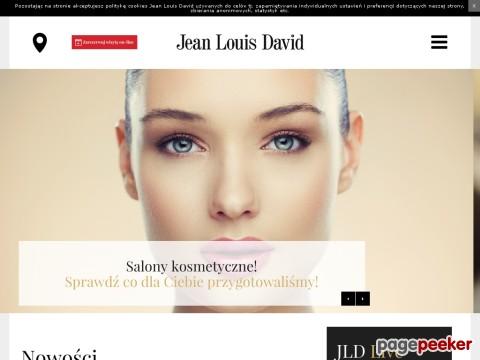 Odkryj profesjonalne porady marki Jean Louis David: pielęgnacja, trendy i nowe kolekcje. Korzystaj z naszych usług!  Salony fryzjerskie Jean Louis David świadczą profesjonalne usługi fryzjerskie dla kobiet i mężczyzn. Oferują najlepsze techniki fryzjerskie związane z farbowaniem włosów oraz ekskluzywne zabiegi pielęgnacyjne, które całkowicie dopasowane są do indywidualnych upodobań każdego klienta. Na odwiedzających salony czeka szeroki wachlarz kuracji pielęgnacyjnych, wykorzystujących najnowsze składniki aktywne, które odpowiadają na potrzeby różnych typów włosów.  ./_thumb/www.jeanlouisdavid.pl.png
