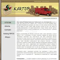 Jako ceniony producent kartonów, przedsiębiorstwo Kartop proponuje różnorakie opakowania tekturowe w atrakcyjnych cenach. Na tej stronie online uzyskać jest okazja dokładne informacje, jakie pudła kartonowe lub kartony klapowe da się tam nabyć. Na stronie prezentowane są także inne usługi, jakie oprócz propozycji ofertowej opakowania tekturowe producent proponuje. I tak na przykład w obszarze oferty usługi transportowe, kontrahenci Kartop mają okazję oczekiwać na w pełni bezpieczny i bardzo szybki przewóz czy przeładunek każdego produktu. ./_thumb/www.kartop.pl.png