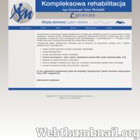 Profesjonalna rehabilitacja domowa. Terapia plastrami (kinesiotaping). Rehabilitacja po udarze. Wypożyczalnia SZYN CPM. Tel. 531 011 813 ./_thumb/www.rehabilitacja.lubin.pl.png