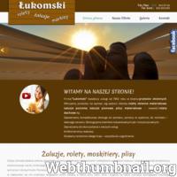 Firma Łukomski działa na terenie Łodzi i okolic. Oferujemy: żaluzje poziome i pionowe, rolety materiałowe, żaluzje drewniane, moskitiery, plisy. ./_thumb/www.roletyzaluzjelodz.pl.png