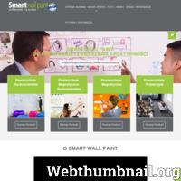 Dzięki farbą Smart Wall Paint stworzysz wyjątkową ścianę: magnetyczną, suchościeralną, tablicową. Za pomocą markerów, możesz zapisywać różne informację a następnie w łatwy sposób ścierać napisany tekst.  Świadczymy, również usługi w wykonywaniu powierzchni magnetycznych, suchościeralnych i tablicowych. Zapraszamy do współpracy!  ./_thumb/www.smartwallpaint.com.pl.png