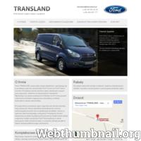 Firma TRANSLAND specjalizuje się w sprzedaży części nowych i używanych do samochodu Ford Transit roczniki 1986-2011 oraz Ford Transit Connect 2002-2011r. ./_thumb/www.transland.pl.png