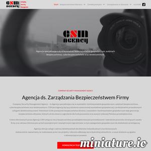 Company Security Managment Agency to agencja detektywistyczna, która znajduje się w Warszawie. Firma zajmuje się wywiadem i kontrwywiadem gospodarczym oraz prowadzeniem profesjonalnych audytów bezpieczeństwa.