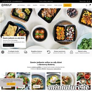Zamów jedzenie online na cały dzień z darmową dostawą Zamawiaj zestawy posiłków z 5 różnych kuchni świata na dowolną ilość dni. Codziennie darmowa dostawa. Bezpiecznie i bezkontaktowo.  Przygotowaliśmy dla Ciebie najlepsze dania kuchni polskiej, włoskiej, greckiej, azjatyckiej i wegetariańskiej. Każdego dnia możesz wybrać zestaw posiłków z 5 różnych kuchni świata. Sprawdź nasze menu i przekonaj się, że warto zamówić jedzenie online na Daily.
