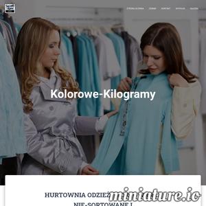 Odzież używana sortowana prosto na wieszak Kolorowe Kilogramy - to odzież sortowana z Anglii Szwecji Niemiec Norwegi markowe ubrania - firmówki wysokiej jakości.  Dobra odzież używana na wagę damska dziecięca i męska z podziałem na pory roku lato zima wiosna Cenimy nie tylko jakość naszych ubrań ale styl i obowiązującą modę.   ./_thumb1/kolorowekilogramy.pl.png