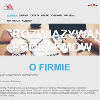 Firma PHU LECRIS - opaski ochronne, przeciwrozbryzgowe, pompy przemysłowe, maszyny, części zamienne oraz inne akcesoria dla przemysłu, jak również współpraca handlowo-techniczna. ./_thumb1/lecris.com.pl.png