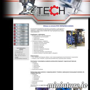 Metaltech Serwis to firma zajmująca się modernizacją oraz serwisowaniem maszyn i urządzeń wykorzystywanych w przerobie mas formierskich a także świadczeniem usług z zakresu obróbki skrawanej (inaczej nazywanej obróbką CNC).  W ofercie przedsiębiorstwa znajdują się również części zamienne do mieszarek turbinowych oraz oczyszczarek. Metaltech Serwis kultywuje tradycje zakładu Technical Nowa Sól, który był pionierem w zakresie odlewnictwa i branży przemysłu ciężkiego.   ./_thumb1/metaltech-serwis.pl.png