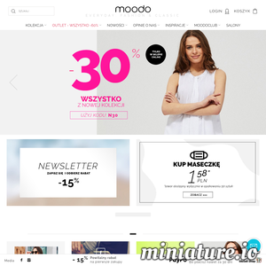 Moodo jest sklepem internetowym, który specjalizuje się w sprzedaży odzieży dla kobiet. W ich ofercie można znaleźć wiele ciekawych inspiracji odzieżowych oraz samych ubrań, które wyróżniają się nowoczesnym stylem. W sklepie dostępne są propozycje w wielu rozmiarach i krojach. ./_thumb1/moodo.pl.png