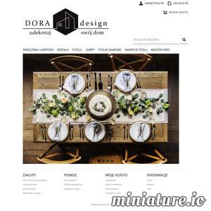 sklep DORA-design to elementy wyposażenia wnętrz, od świeczników poprzez wazony, poduszki aż po krzesła, stoliki i oświetlenie. Wszystko sprawdzone przez architektów wnętrz DORA-design podczas ponad 10 letniej pracy nad projektami. Sprawdzone marki, tylko oryginalne produkty.