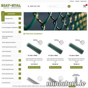 Siat-Stal to sklep internetowy oferujący różne rodzaje siatek - metalowe, ocynkowane, powlekane, heksagonalne i inne. W naszym sklepie z siatkami ogrodzeniowymi możesz wybrać odpowiedni rodzaj siatki, zmodyfikowaćjego parametry takie jak kolor czy rozmiar, a następnie zamówićprodukt online. Dostarczamy siatkę ogrodzeniową na terenie całej Polski. Zapraszamy do zakupów - Siat-Stal sklep z siatką ogrodzeniową.