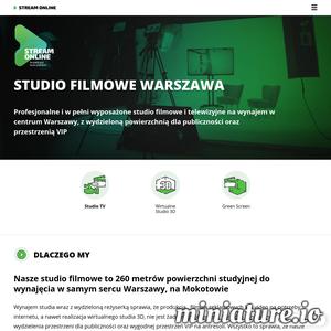 Studio StreamOnline to miejsce, które należy do liderów polskiej branży broadcastingowej. Jest to w pełni wyposażone studio filmowe, w którym zrealizujesz swój wymarzony projekt - reklamę, wywiad, program rozrywkowy, a nawet film. Studio znajduje się na warszawskim Mokotowie, gdzie możesz udać się osobiście, jeśli chciałbyś poznać więcej szczegółów oferty. Zapraszamy serdecznie do skorzystania z usług!