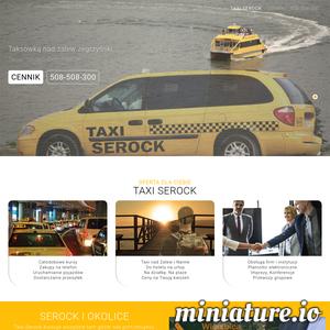 Taxi-Serock to tania taksówka w serocku świadczace usługi transportu osób i miena oraz zakupy na telefon z dostawą do domu. Taxi-Serock świadczy usługi taksówkarskie od ponad 15 lat dzień w dzień przewożąc setki zadowolonych klientów w Serocku oraz Legionowie. Nasze Taxi-Serock działa całodobowo siedem dni w tygodniu także w święta i niedziele Nasza flota to duże i bezpieczne taksówki, które szybko, bezpiecznie i komfortowo dowiązą Państwa do wybranej lokalizacji. Zatrudniamy jedynie licencjonowanych i odpowiednio przeszkolonych kierowców którzy dobrze znają Serock, Legionowo i okolice i pomogą ci szybko dostać się do celu. Nasze podstawowe kierunki to:Serock, Legionowo, Jabłonna, Wieliszew, Jachranka, Zegrze, Nieporęt, Mińsk Mazowiecki. Potrzebujesz dojechać w inne miejsce? Bez problemu! Zadzwoń do nas pod numer telefonu 508-508-300 i sprawdź naszą ofertę albo zobacz naszą stronę taxi-serock.com.pl.