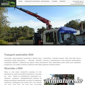 Transport materiałów HDS. Świadczymy transport HDS w Zielonej Górze i województwie Lubuskim.