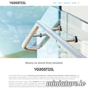 Firma Vorosteel wykonuje i montuje: balustrady z stali nierdzewnej, szklane, ażurowe balustrady i schody nowoczesne oraz inne elementy z stali nierdzewnej.