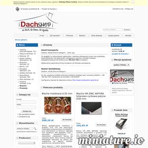 DachShop, panele dachowe , panele elewacyjne , panele na rąbek stojący , systemy rynnowe , obróbki blacharskie
