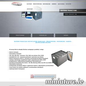 Szukasz profesjonalnych rozwiązań? Firma FHU ALEX gwarantuje 100% satysfakcji.  W asortymencie sklepu można wyróżnić między innymi akumulatory trakcyjne, baterie trakcyjne, monobloki, prostowniki oraz serwis. Wszystkie produkty pochodzą od znanych i cenionych producentów. Postaw na sprawdzoną firmę. Więcej informacji można sprawdzić na stronie internetowej. Serdecznie zapraszamy!