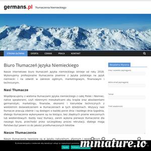 Szukasz tłumacza niemieckiego ? Wykonujemy profesjonalne tłumaczenia polsko-niemieckie i niemiecko-polskie ogólne, marketingowe, finansowe i techniczne. ./_thumb1/www.germans.pl.png