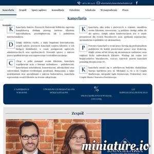 Oficjalna strona kancelarii radców prawnych Piotrowski Rolbiecka