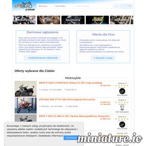 Chcesz mieć dobry motocykl nasz portal jest dla Ciebie. U nas znajdziesz motocykle, mechaników, części, akcesoria, odzież motocyklową. Przeczytasz opinie o sprzedawcy lub wystawisz opinie o mechaniku. Wystaw na sprzedaz swój motocykl za darmo!