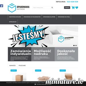 Sklep internetowy www.opakowaniakartonowe.eu posiada w swojej ofercie pudełka klapowe, pudełka fasonowe, pudełka na pizzę, pudełka e-commerce, pudełka zwrotne, wypełniacze kartonowe i wiele innych.
