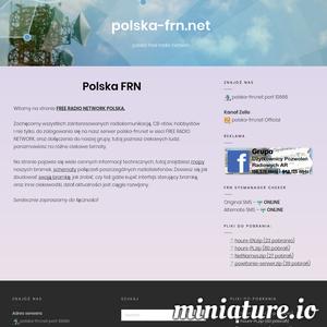 polska free radio network  Polska FRN Witamy na stronie FREE RADIO NETWORK POLSKA.  Zachęcamy wszystkich zainteresowanych radiokomunikacją, CB-stów, hobbystów i nie tylko, do zalogowania się na nasz serwer polska-frn.net w sieci FREE RADIO NETWORK, oraz dołączenia do naszej grupy, tutaj poznasz ciekawych ludzi, porozmawiasz na różne ciekawe tematy.  Na stronie pojawia się wiele cennych informacji technicznych, tutaj znajdziesz mapy naszych bramek, schematy