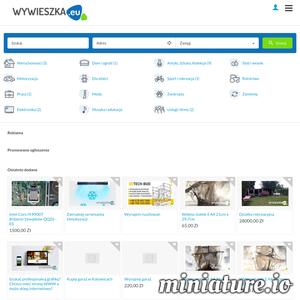 Nowy bezpłatny portal ogłoszeniowy Wywieszka.eu z fajnymi funkcjami .m.in. Powiadomienia w przeglądarce dla zalogowanych użytkowników, możliwość kopiowania ogłoszeń , galeria zdjęć w ogłoszeniach, oraz przyjazny edytor opisu w dodawaniu ogłoszeń i wiele więcej.  Zapraszamy na wywieszka.eu